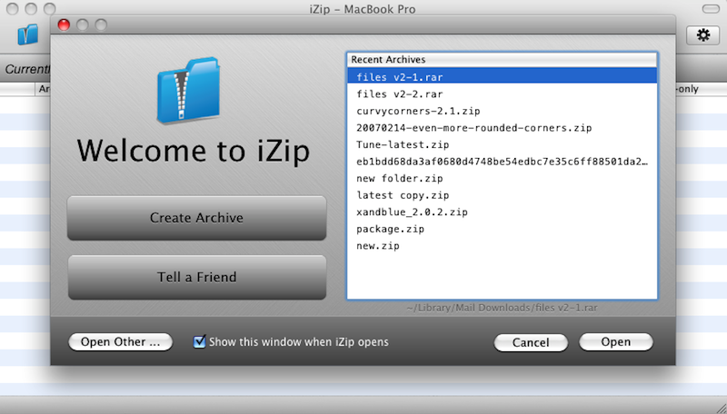 iZip 3.3 Screen shot